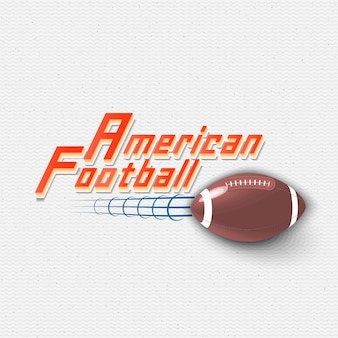 American football zeigt logos an