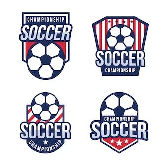 American fußball-logo-set