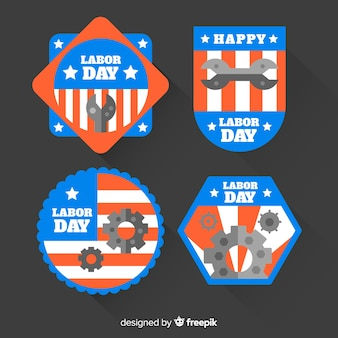 American labour day abzeichen gesetzt