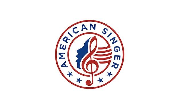 American singer / chor logo design