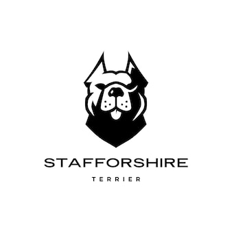 American staffordshire terrier hundekopf gesicht logo symbol
