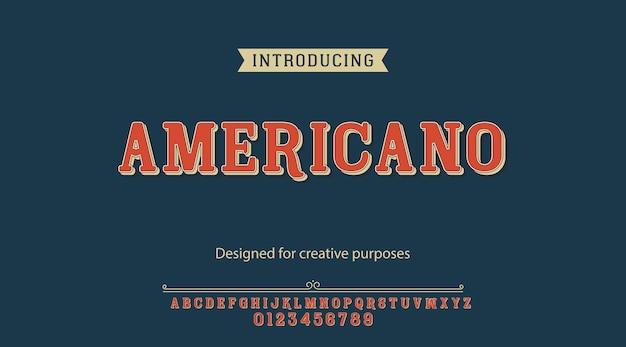 Americano-schrift. schriftgestaltung