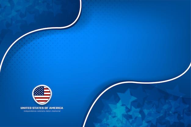 Amerika-hintergrund für unabhängigkeitstag