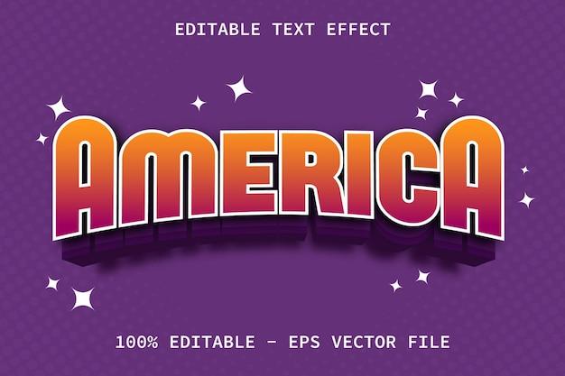Amerika mit bearbeitbarem texteffekt im modernen spielstil