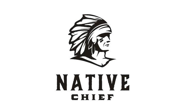 Amerika native / indian chief illustration