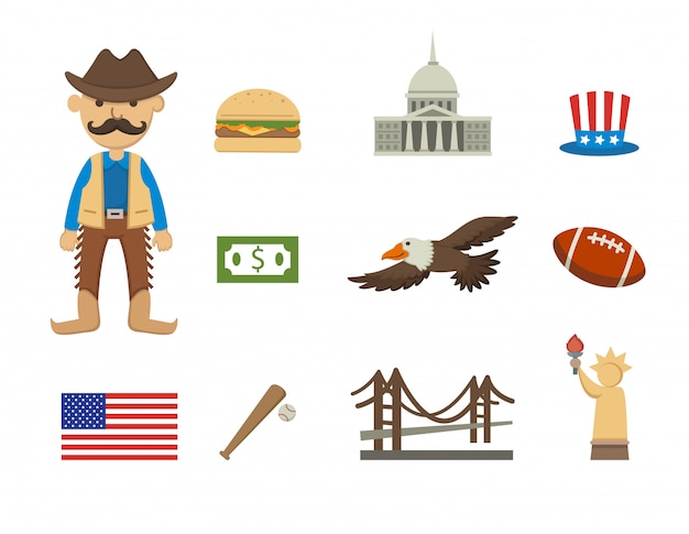 Amerika-symbolvektorsatz