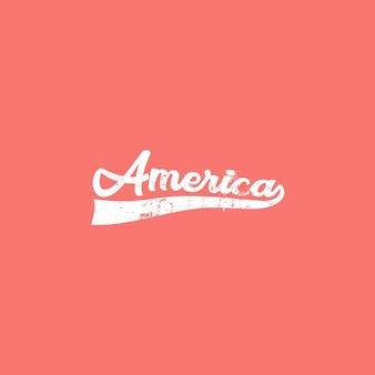 Amerika-typografie-weinlese-t-stück grafik
