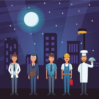 Amerikanische arbeitstagkarikatur