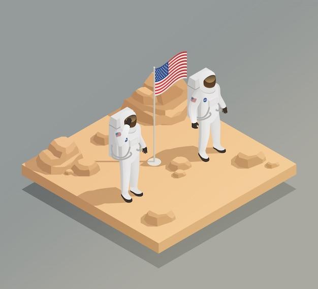 Amerikanische astronauten isometrische zusammensetzung
