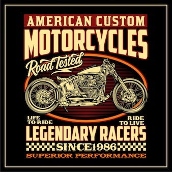 Amerikanische benutzerdefinierte motorräder