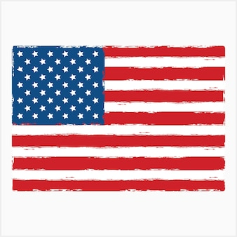 Amerikanische flagge grunge-vektor