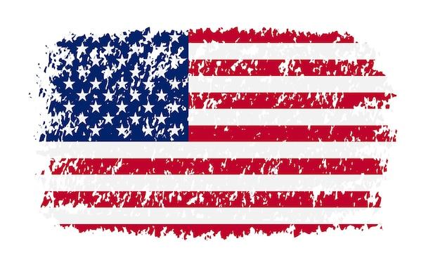 Amerikanische flagge im grunge-stil