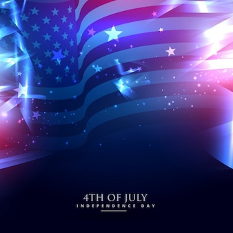 Amerikanische flagge in den abstrakten hintergrund