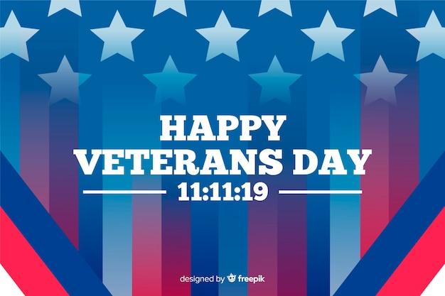 Amerikanische flagge mit farbverlauf und glücklicher veteranentag