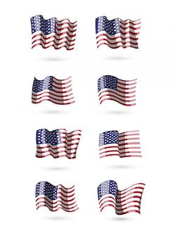 Amerikanische flaggen-sammlung