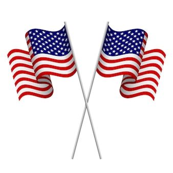 Amerikanische flaggen