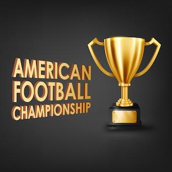Amerikanische fußballmeisterschaft mit goldtrophäe