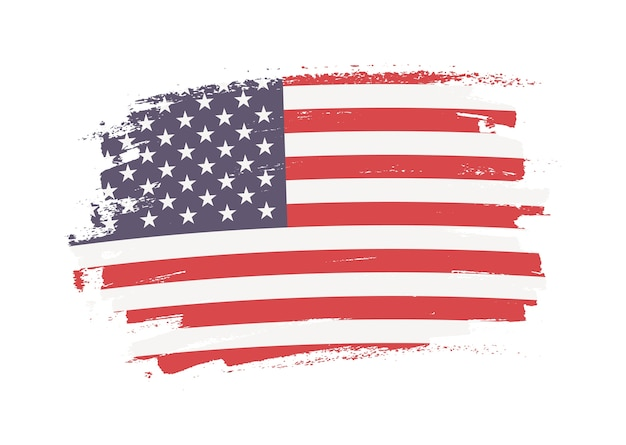 Amerikanische grunge-flagge
