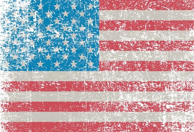 Amerikanische grunge flagge