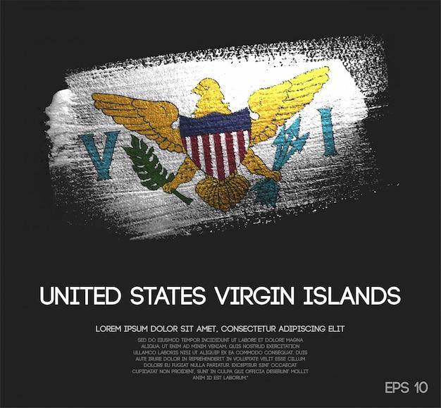 Amerikanische jungferninseln-flagge