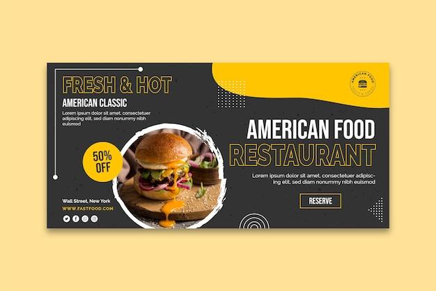 Amerikanische nahrungsmittelfahnenschablone