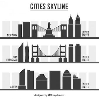 Amerikanische stadt skylines