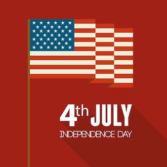 Amerikanische unabhängigkeitskarte