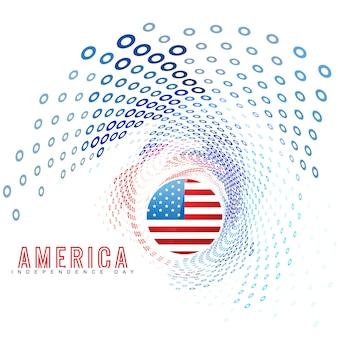 Amerikanische unabhängigkeitstag hintergrund design