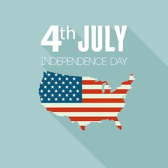 Amerikanische unabhängigkeitstagkarte