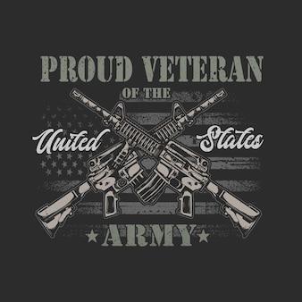 Amerikanische veteranenillustrationsgrafik