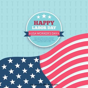 Amerikanischen arbeitstag flagge hintergrund