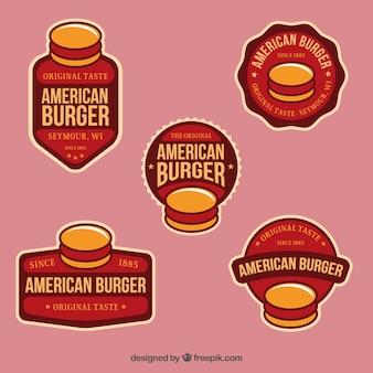 Amerikanischen burger abzeichen
