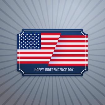 Amerikanischen unabhängigkeitstag abzeichen