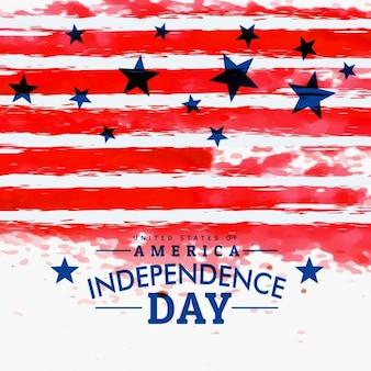 Amerikanischen unabhängigkeitstag hintergrund mit grunge-flagge