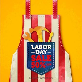 Amerikanischer arbeitstagesverkauf mit realistischer art