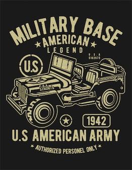 Amerikanischer armee-jeep