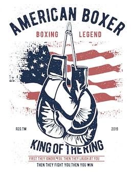 Amerikanischer boxer