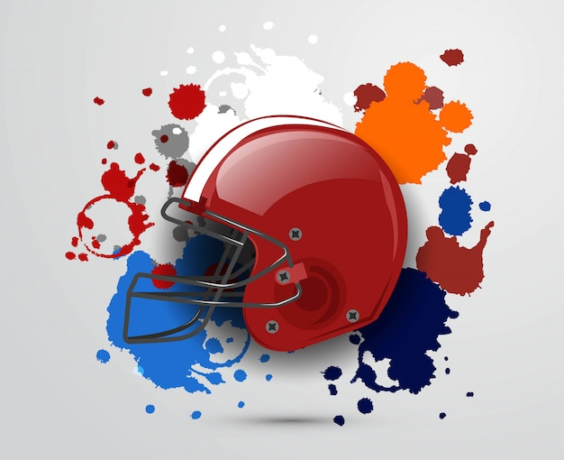 Amerikanischer fußball-vektor-design