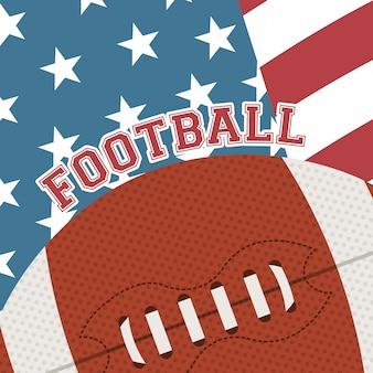 Amerikanischer fußballentwurf
