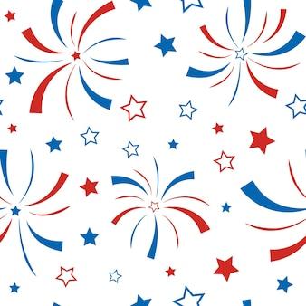Amerikanischer glücklicher unabhängigkeitstag 4. juli vektortapete
