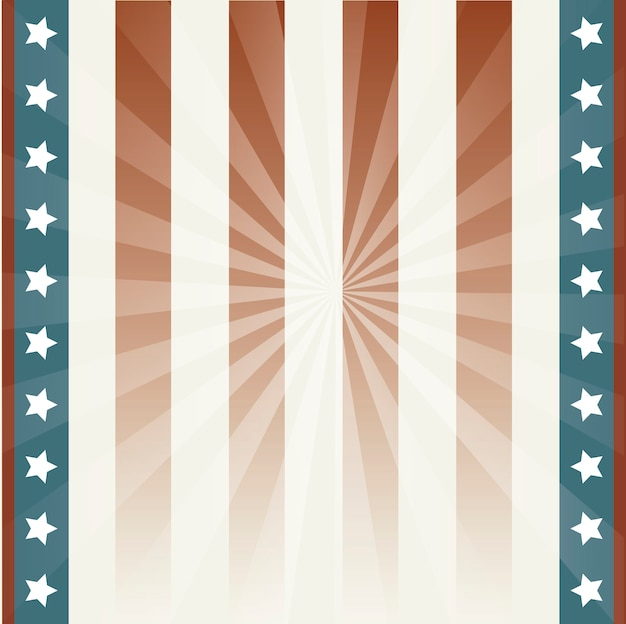 Amerikanischer hintergrund mit sternen und flagge vektor-illustration