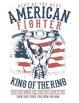 Amerikanischer kämpfer