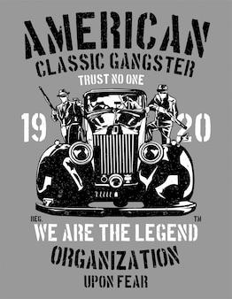 Amerikanischer klassischer gangster