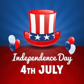 Amerikanischer unabhängigkeitstag. 4. juli usa feiertag. tag der unabhängigkeit