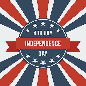 Amerikanischer unabhängigkeitstag 4. juli.