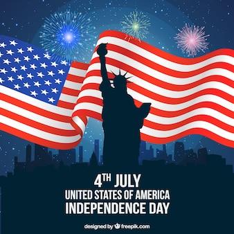 Amerikanischer unabhängigkeitstag in new york city