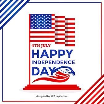Amerikanischer unabhängigkeitstag mit flachem design