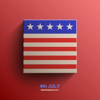 Amerikanischer unabhängigkeitstaghintergrund, amerikanische flagge,