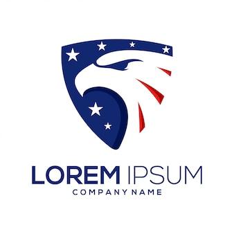 Amerikanisches adler-logo