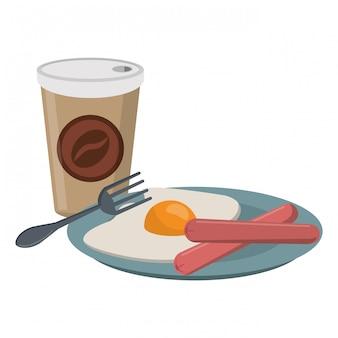 Amerikanisches frühstück essen